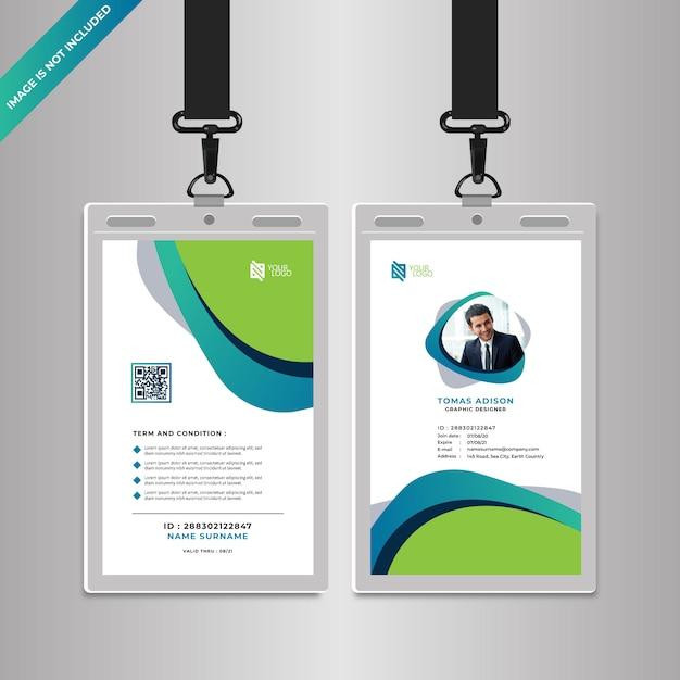 Modelo de cartão de identificação corporativa Vetor Premium