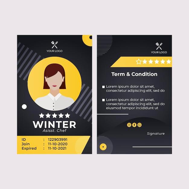 Modelo de cartão de identificação de melhor restaurante fast food para churrasco Vetor grátis