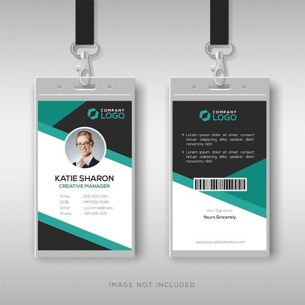 Modelo de cartão de identificação profissional Vetor Premium