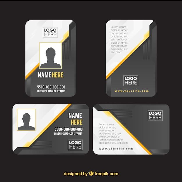 Modelo de cartão de identificação Vetor grátis