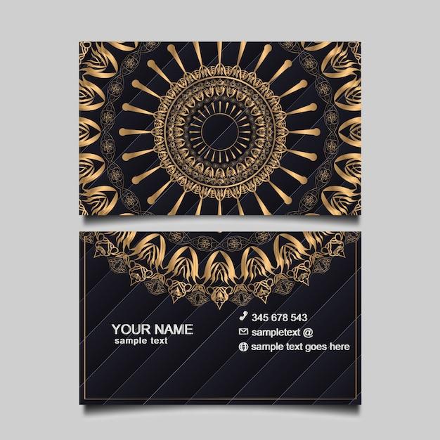Modelo de cartão de luxo ouro Vetor grátis