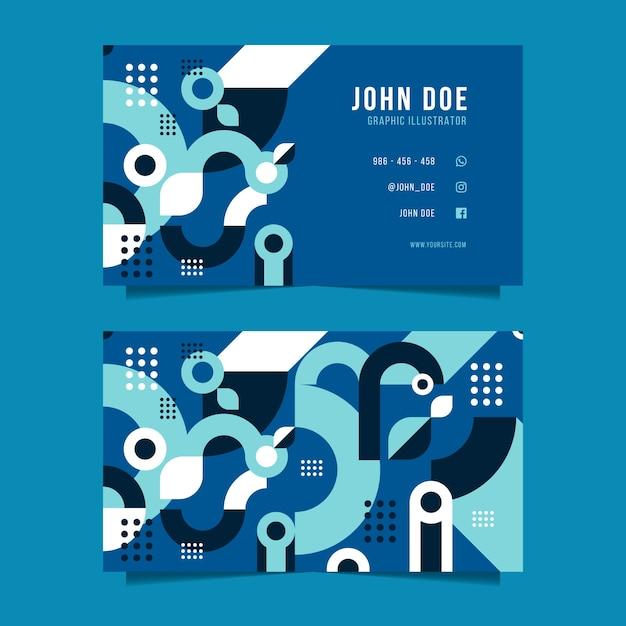 Modelo de cartão de negócios abstrato azul clássico Vetor grátis