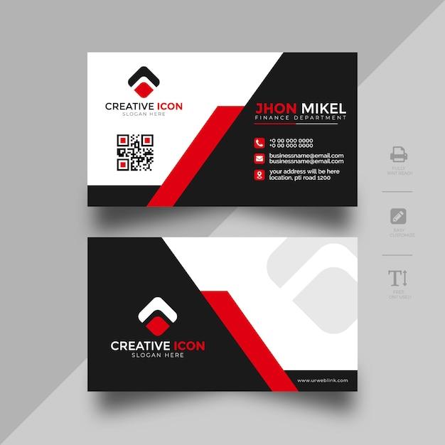 Modelo de cartão de negócios abstrato Vetor Premium