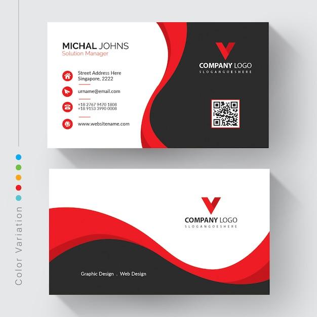 Modelo de cartão de negócios corporativo moderno Vetor grátis