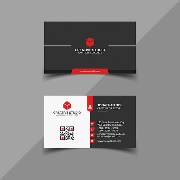 Modelo de cartão de negócios corporativo moderno Vetor Premium