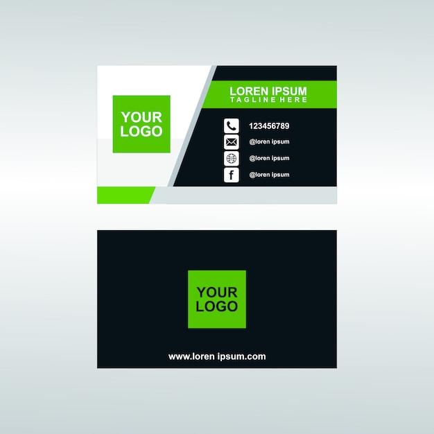 Modelo de cartão de negócios corporativos modernos premium Vetor Premium