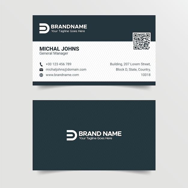 Modelo de cartão de negócios criativo moderno Vetor Premium