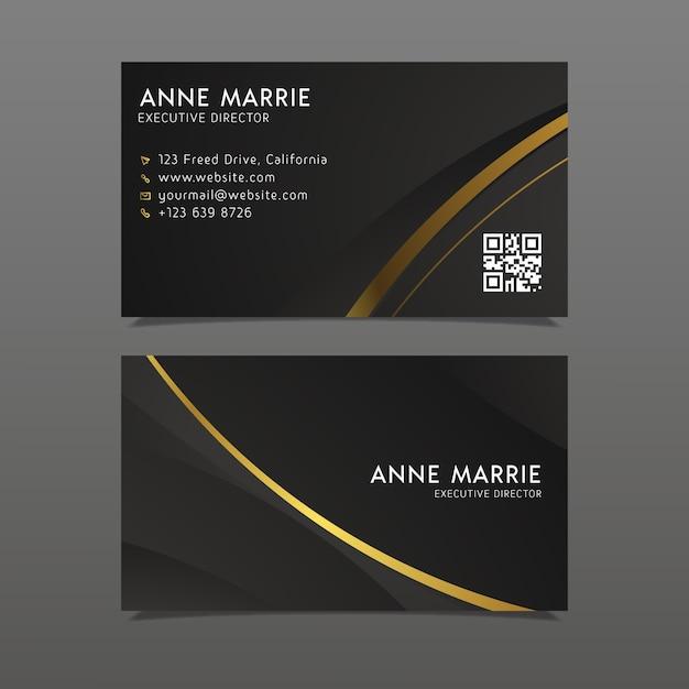 Modelo de cartão de negócios de luxo Vetor grátis