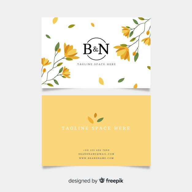 Modelo de cartão de negócios floral elegante Vetor grátis