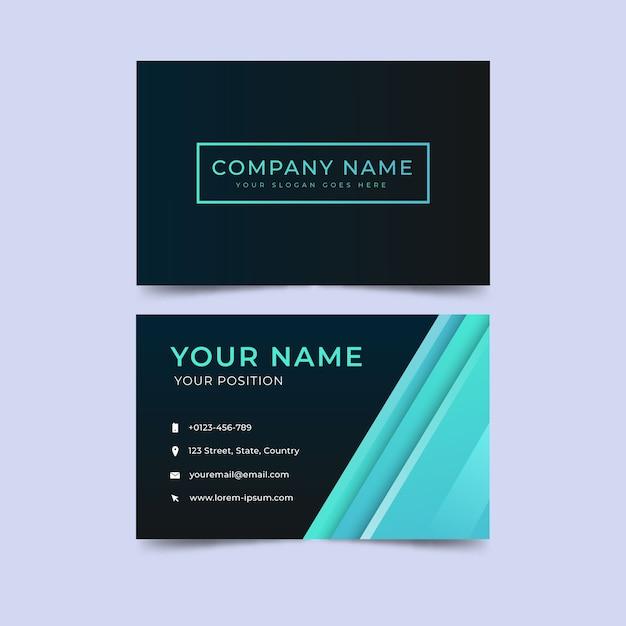 Modelo de cartão de negócios minimalista Vetor grátis