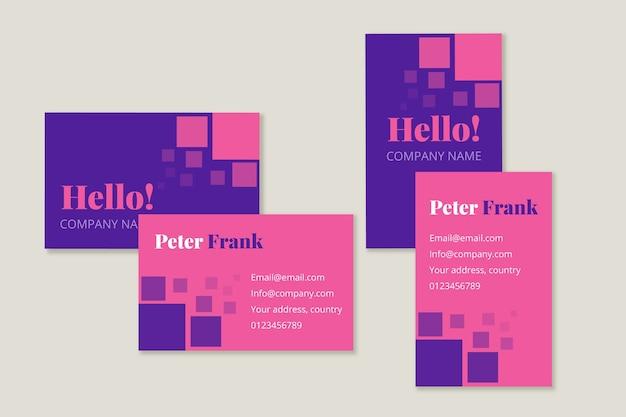 Modelo de cartão de negócios mínimo colorido Vetor grátis