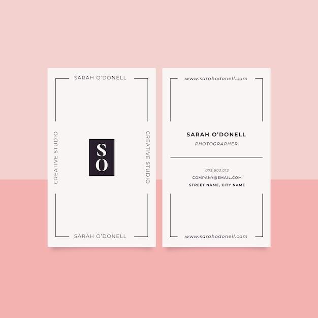Modelo de cartão de negócios mínimo Vetor grátis