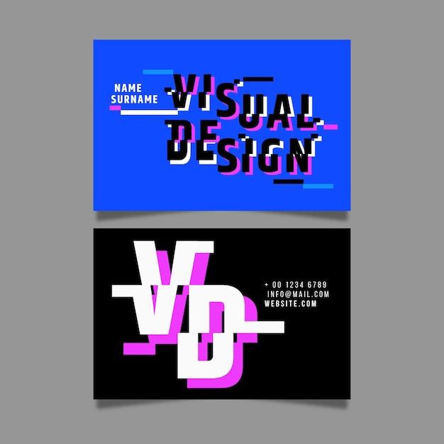 Modelo de cartão de negócios moderno criativo Vetor grátis