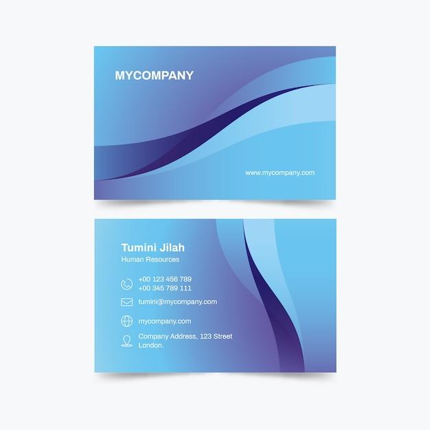 Modelo de cartão de negócios monocromático abstrato Vetor grátis