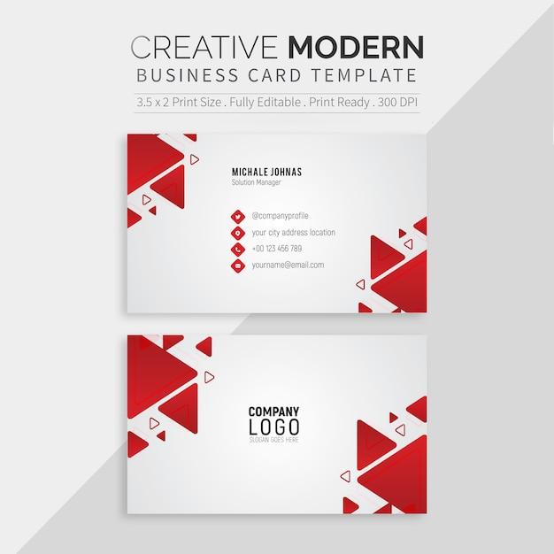 Modelo de cartão de negócios profissional branco Vetor Premium