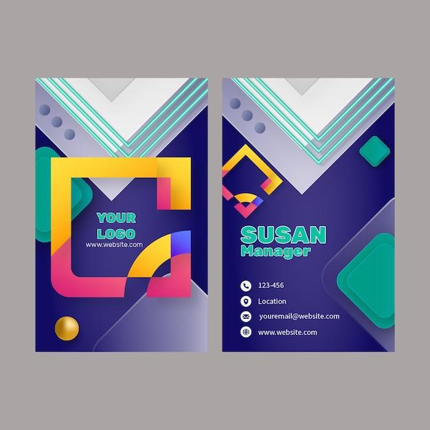 Modelo de cartão de negócios vertical de marketing Vetor grátis