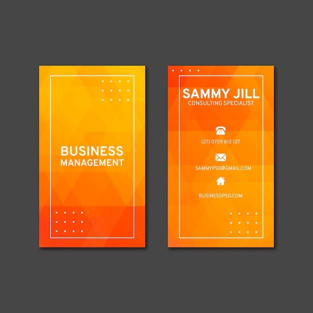 Modelo de cartão de negócios vertical empresária Vetor Premium