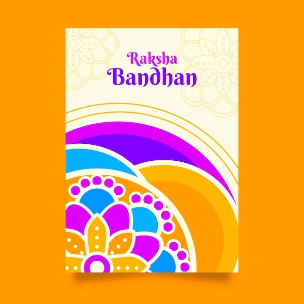 Modelo de cartão de raksha bandhan Vetor grátis