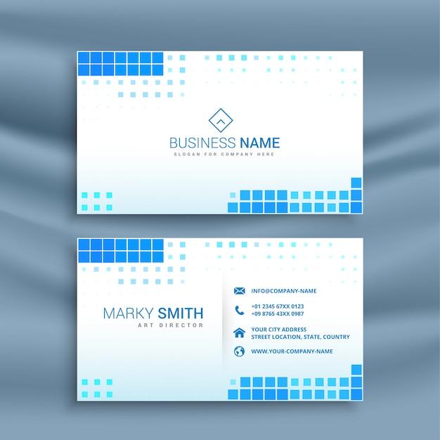 Modelo de cartão de visita azul estilo mosaico Vetor grátis