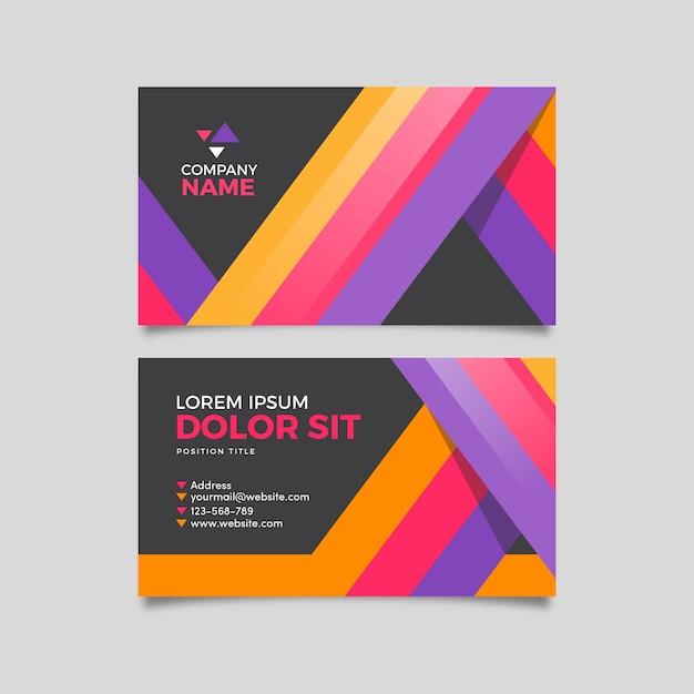 Modelo de cartão de visita colorido abstrato Vetor grátis