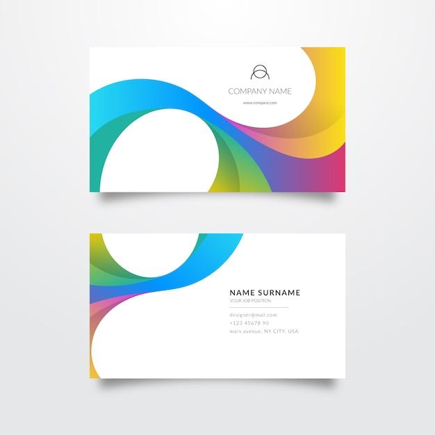 Modelo de cartão de visita colorido elegante Vetor grátis