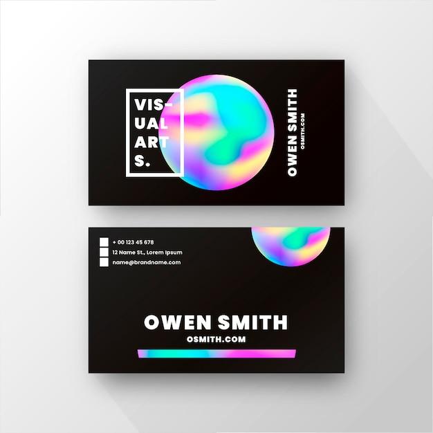 Modelo de cartão de visita com cores gradientes Vetor grátis