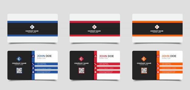 Modelo de cartão de visita criativo e limpo moderno de vetor Vetor Premium
