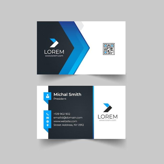 Modelo de cartão-de-visita - criativo Vetor Premium