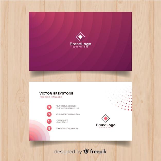 Modelo de cartão de visita criativo Vetor grátis