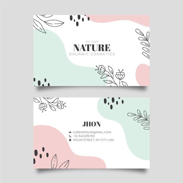 Modelo de cartão de visita de natureza Vetor Premium