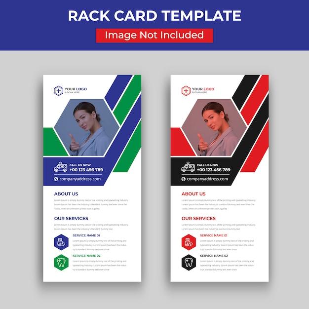 Modelo de cartão-de-visita - dl medical Vetor Premium