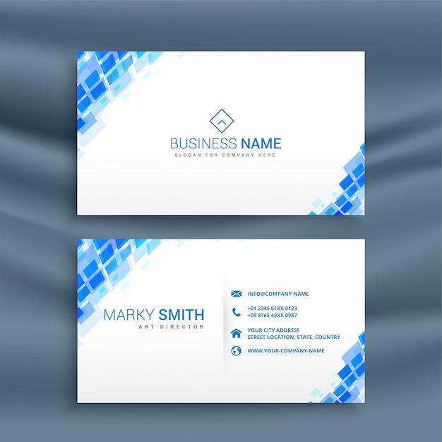 Modelo de cartão-de-visita - estilo mosaico azul Vetor grátis