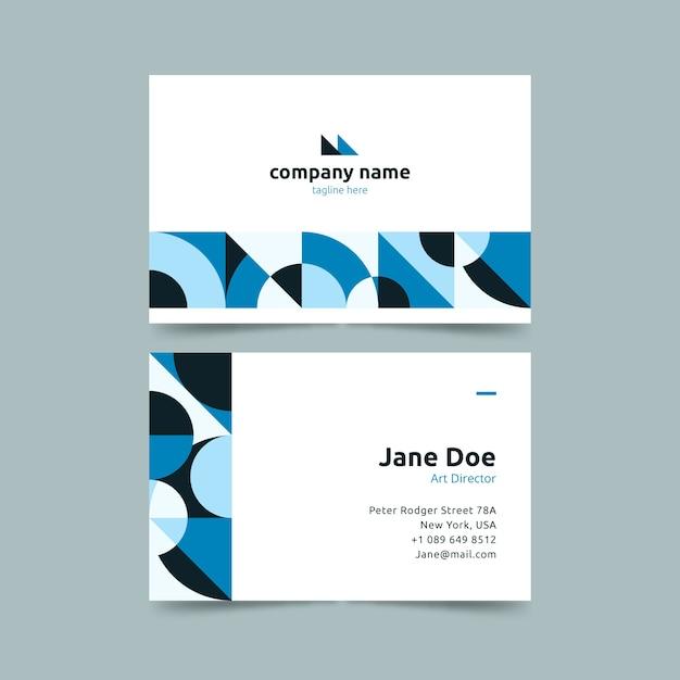 Modelo de cartão-de-visita - formas circulares em gradiente azul Vetor grátis