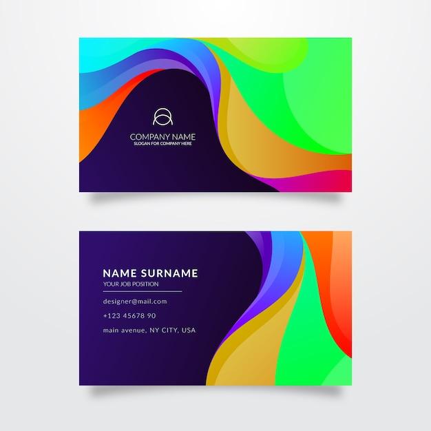 Modelo de cartão de visita multicolorido Vetor grátis