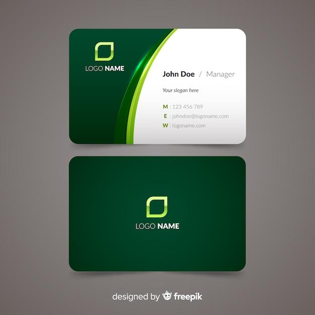 Modelo de cartão de visita plana Vetor Premium