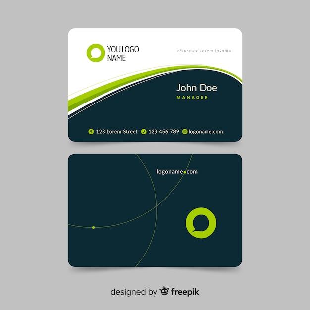 Modelo de cartão de visita plana Vetor grátis