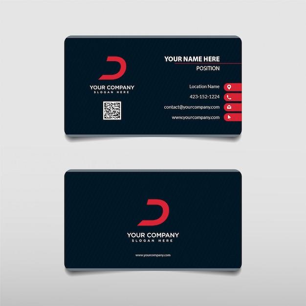 Modelo de cartão-de-visita - profissional corajoso vermelho moderno da tecnologia Vetor Premium