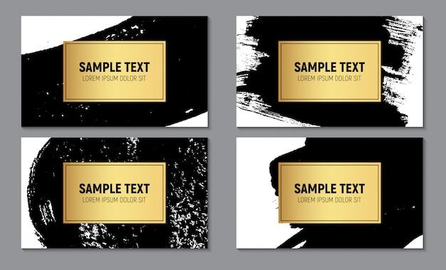 Modelo de cartão-de-visita - texturizado Vetor Premium