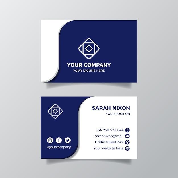 Modelo de cartão de visita Vetor Premium