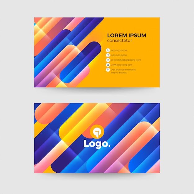 Modelo de cartão-de-visita Vetor Premium