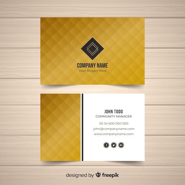 Modelo de cartão dourado Vetor grátis