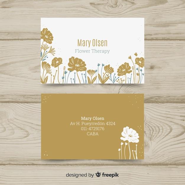 Modelo de cartão elegante com estilo floral Vetor grátis