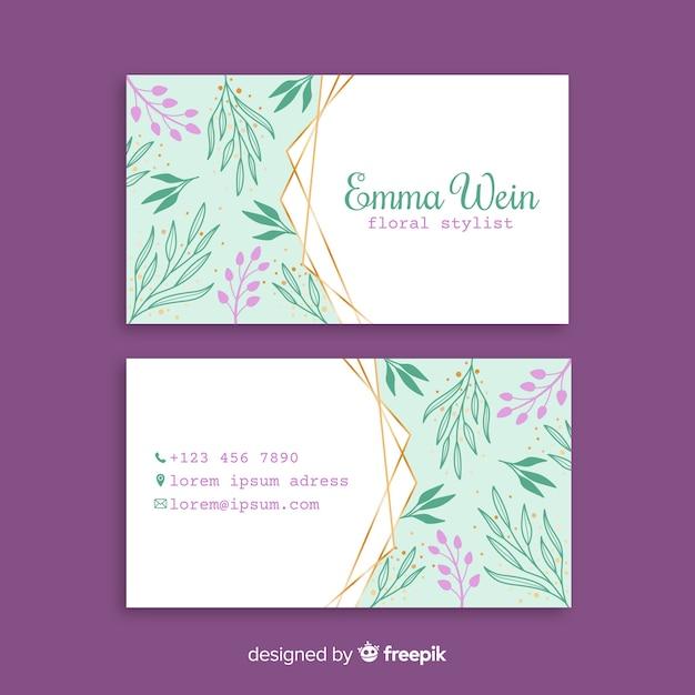 Modelo de cartão floral Vetor grátis