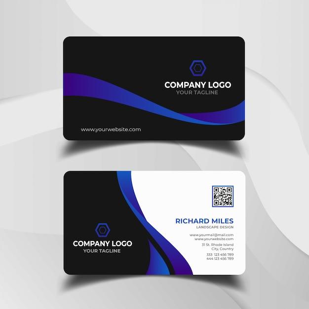 Modelo de cartão moderno Vetor Premium