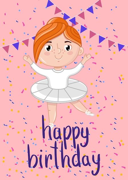 Modelo de cartão postal - feliz aniversário crianças Vetor Premium
