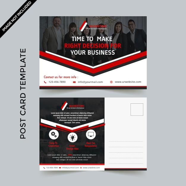 Modelo de cartão postal - negócios Vetor Premium