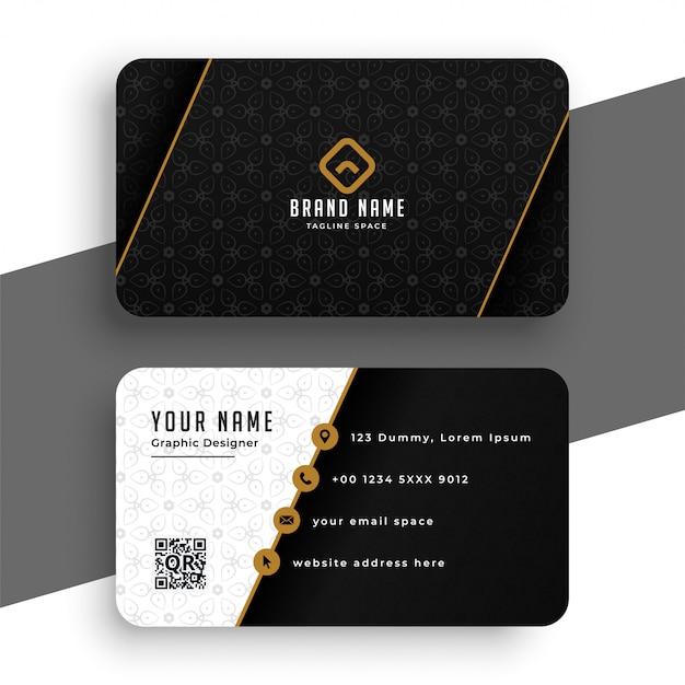 Modelo de cartão premium preto e dourado Vetor grátis