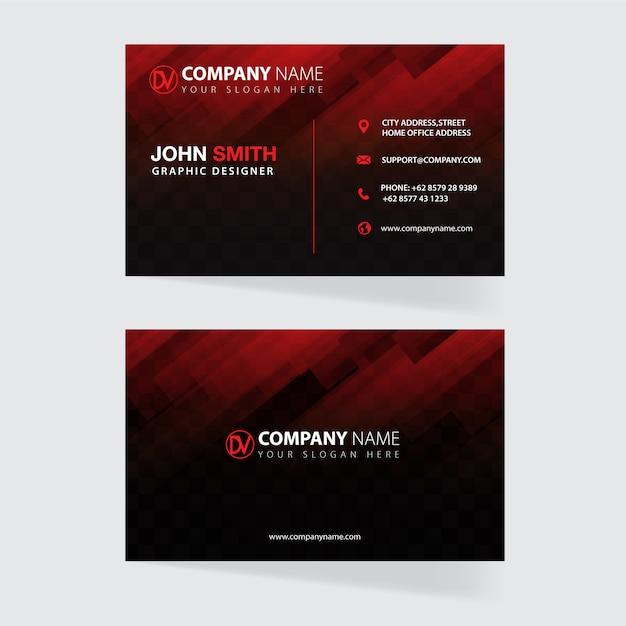 Modelo de cartão Vetor Premium