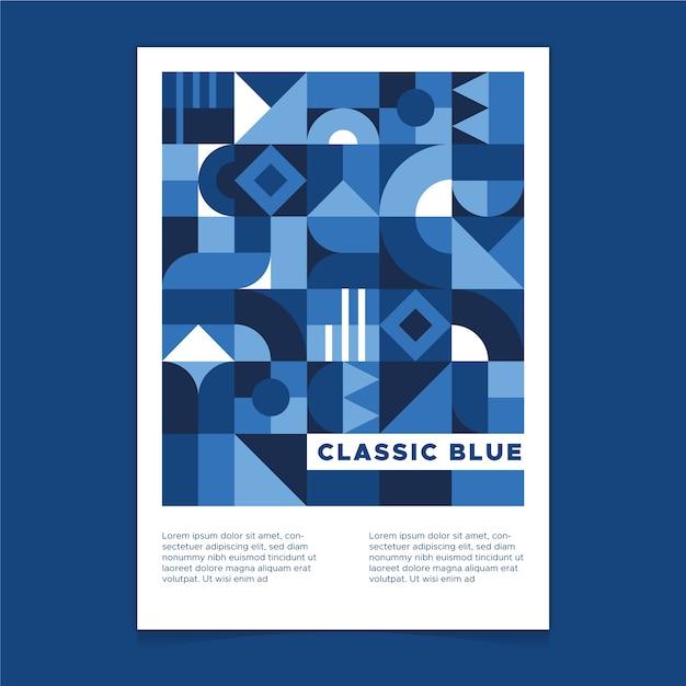 Modelo de cartaz azul clássico abstrato Vetor grátis