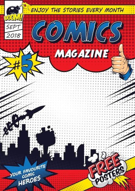 Modelo de cartaz colorido em quadrinhos Vetor grátis